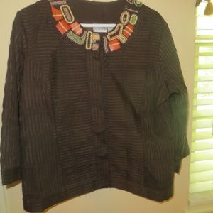 Chico's Brown Jacket Size 2(MED)